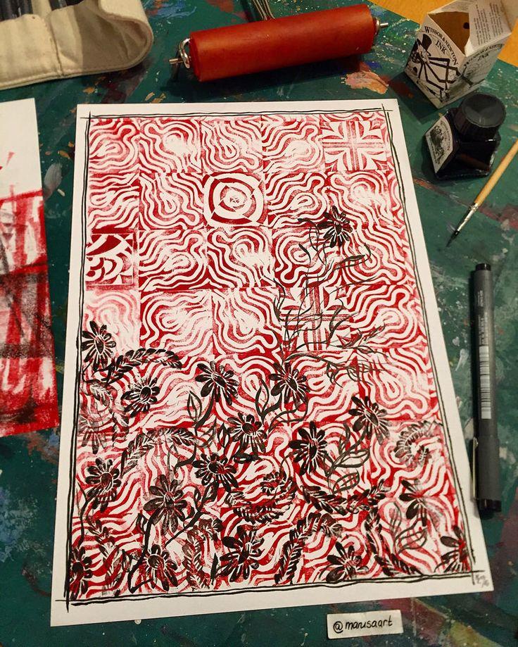 Abstract Linoprint