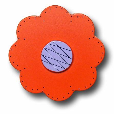 Lollipop Flower Bright Orange Drawer Pull