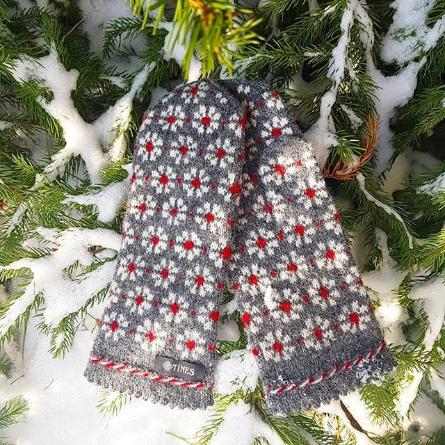 Snowy days and flowerish mittens ❄ Choose your favorite pattern on www.tines.lv WORLDWIDE SHIPPING