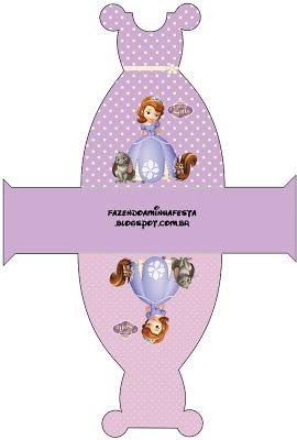Princess Sofia the First Party Boxes, Free Printables.