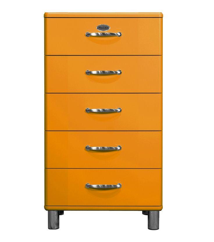 Die besten 25+ Orange kommode Ideen auf Pinterest Orange bemalte - kommode schlafzimmer modern
