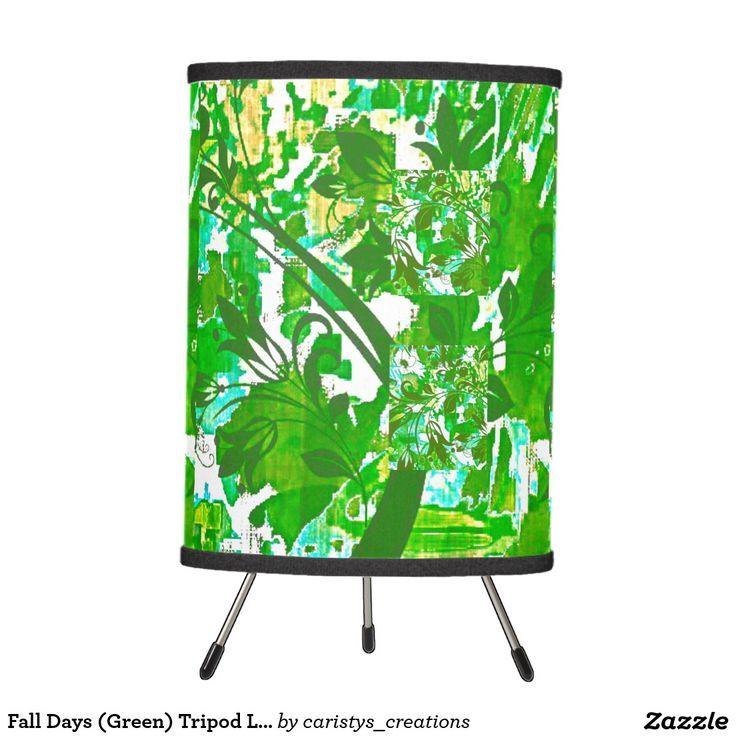 Fall Days (Green) Tripod Light Tripod Lamp