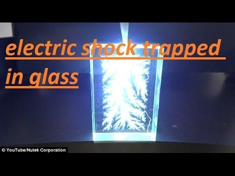 electric shock trapped in glass