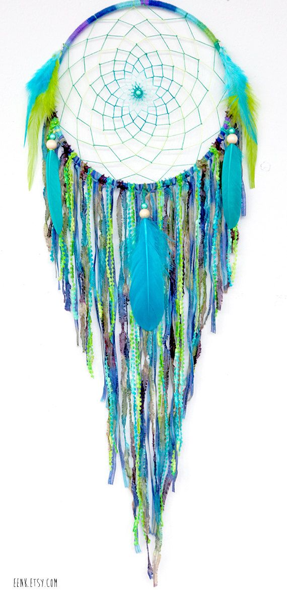 Dream Catcher- Turtle Island Large Native Style Woven Dreamcatcher by eenk…