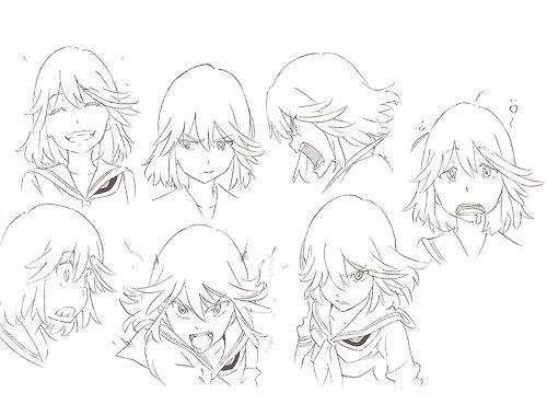 KILL LA KILL Character Concept Art