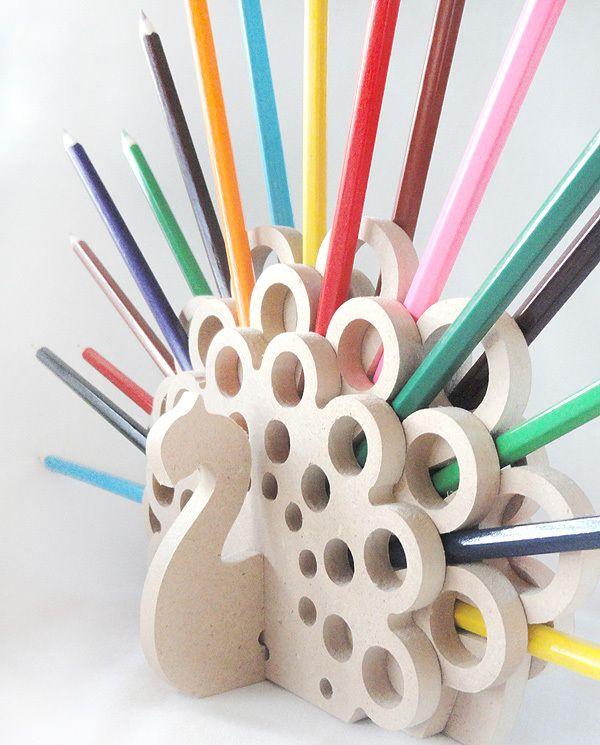 Peacock Pencil Holder