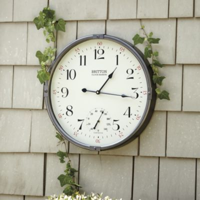 Britton Indoor/Outdoor Clock from Ballard for by the pool