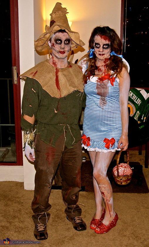 Zombie Dorothy and Scarecrow - Halloween Costume Contest via @costumeworks