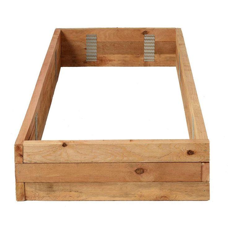 3 ft. x 6 ft. Western Red Cedar Raised Garden Bed Kit