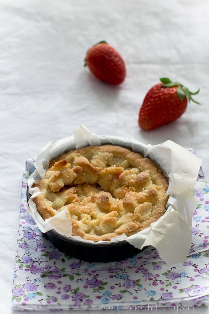 Paciocchi di Francy: Crostatine sbriciolate con fragole e ricotta ( veg...