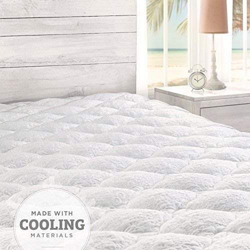 Cooling Overfilled Pillow Top Mattress Pad with Fitted Skirt  Cooling Overfilled Pillow Top Mattress Pad with Fitted Skirt  Expires Sep 18 2017