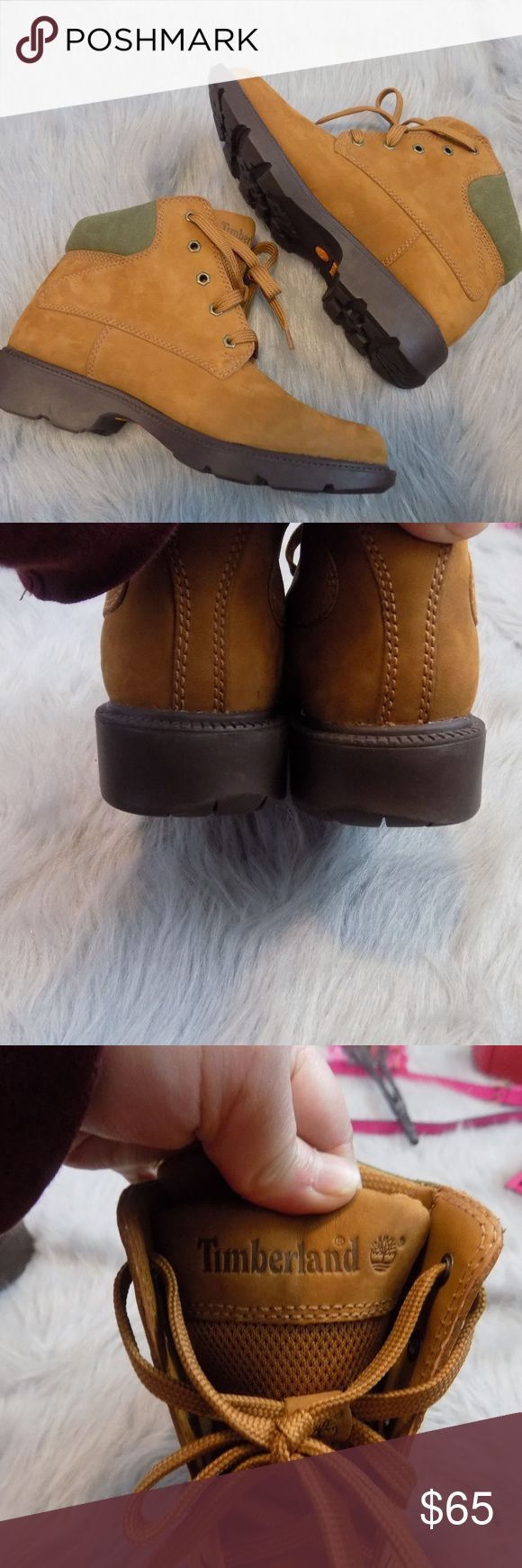 Womens Timberland Ankle Boots Great condition and very clean.   Sole is clean and in excellent condition.  Inside is clean as well. Has green padded suede. Size 8.5 M Timberland Shoes Ankle Boots & Booties
