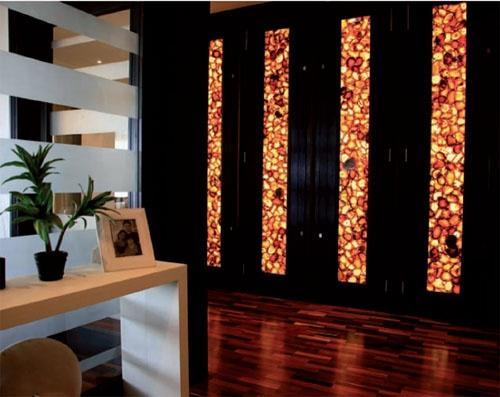 Back lit stone installationWall Finish, Design Inspiration, Interiors Design, Installation Lov Backlit, Living Room, Backlit Onyx, Backlit Stones