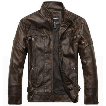 Merk motorfiets lederen jassen mannen herfst en winter lederen kleding mannen leren jassen heren jassen nieuwe business casual 2015!