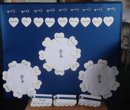 Wedding seating plan. Theme Key To My Heart.