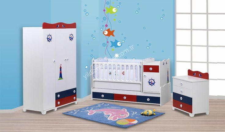 Dolphin Bebek Odası  #babyrom #baby #dream #bed #home #furniture #pinterest #yildizmobiya #dolap #design #bebek http://www.yildizmobilya.com.tr/