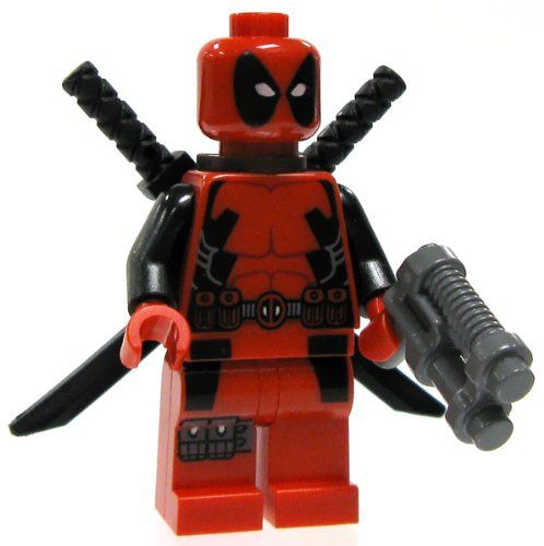Amazon.com: Lego Marvel Super Heroes Deadpool Minifigure: Toys & Games