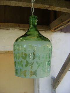 ARTE CON BOTELLAS DE VIDRIO: LAMPARAS