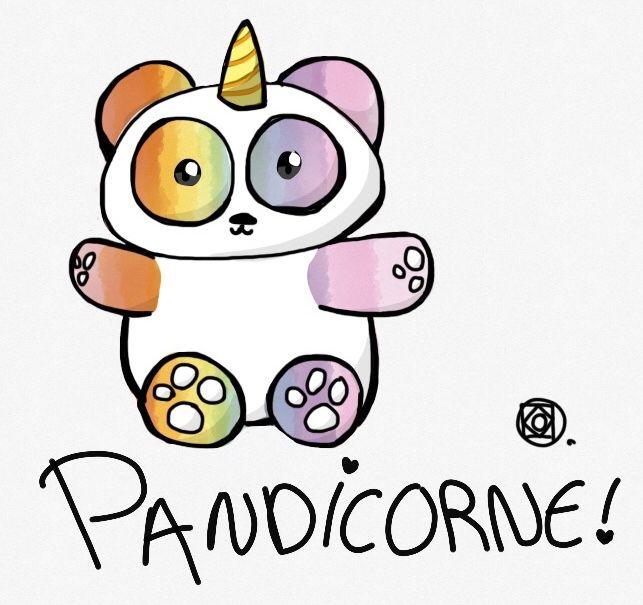 Unicorne Panda Pandicorne Dessin Licorne Petit