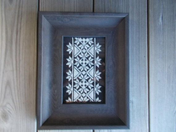 Black aida elegant traditional cross stitch by CamisTheCrossStitch