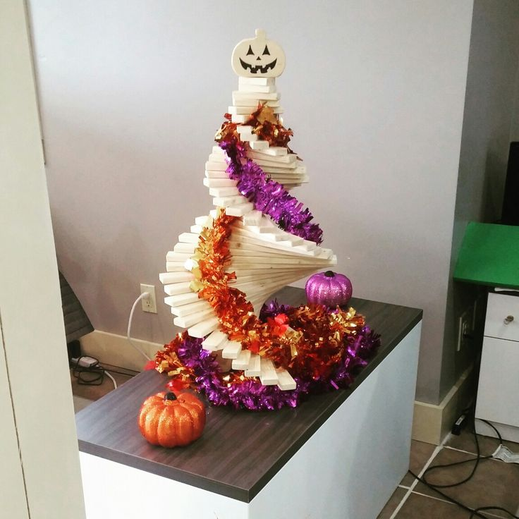 Happy Halloween!! We made a special top to turn our treedia tree into a Pumpkin tree!
