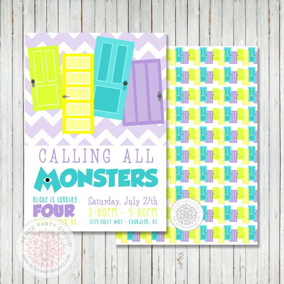 77 best monsters inc party images on pinterest birthday party monsters inc inspired printable party by petitepartystudio on etsy filmwisefo