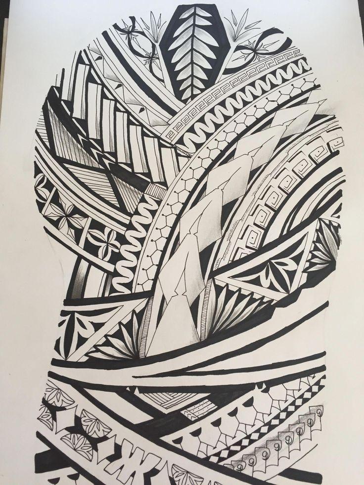 27++ Amazing Polynesian tattoo sleeve stencils image HD