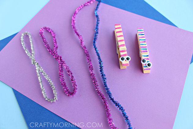 clothespin dragonflies craft