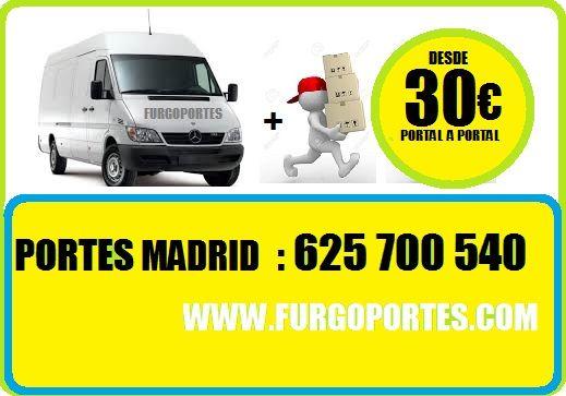 (30€/HRA)910419123 =PORTES ECONOMICOS LEGAZPI  PRECIOS:  30€/HRA  : FURGÓN + CHOFER 60€/HORA: FURGÓN + CHOFER + AYUDANTE 120€/(2 HORAS) FURGÓN + 2 MOSOS DE CARGA Y DESCARGA TARIFAS MADRID CAPITAL INFORMES AL: 625-700540 – 910419-123