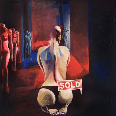 GaeTano and Valentina, LA MUSA, © 2013, acrilico su tela, 120 x 120 cm.  #pittura #art #painting #arts #GaeTanoAndValentina #AcrylicOnCanvas #scenographTwoArt #SCENOGRAPH2ART #GaeTanoeValentina #visualart #canvas #sem #acrylic #peinture #ceruleo #dipinti #monza #italy