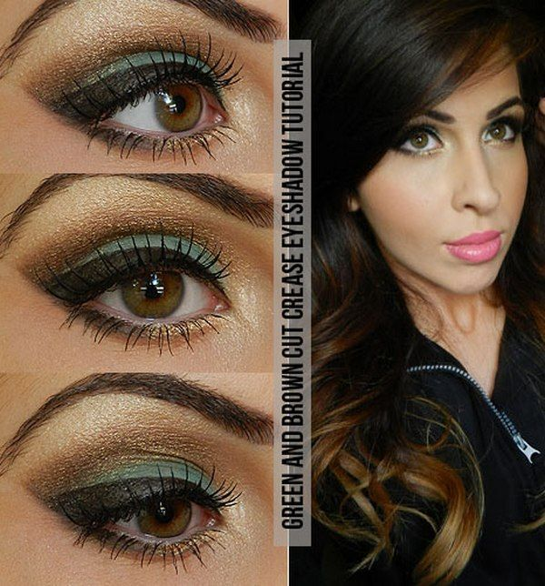 Top Green Eye Makeup & Brown Eye Makeup Tutorial