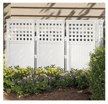 Outdoor Screen Fence - 4 Pc Pk - contemporary - Home Fencing And Gates - ivgStores