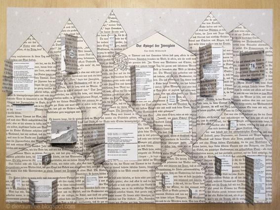 Adventskalender, gefüllt mit Gedanken. // Advent calendar, filled with thoughts by Die Raumfee
