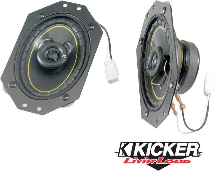 Kicker Factory Replacement Front Dash Speaker Kits for 97-06 Jeep® Wrangler TJ & Unlimited   Quadratec