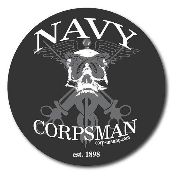 Navy Corpsman syringe military sticker