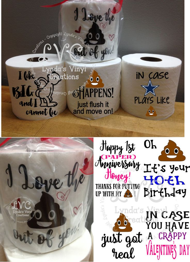 Funny Toilet Paper gag gift by LyndasVinylCreations on Etsy