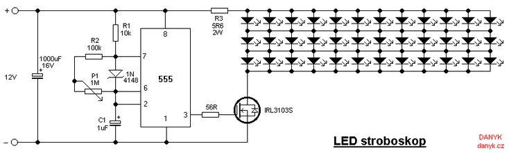 LED strobe light (stroboscope)