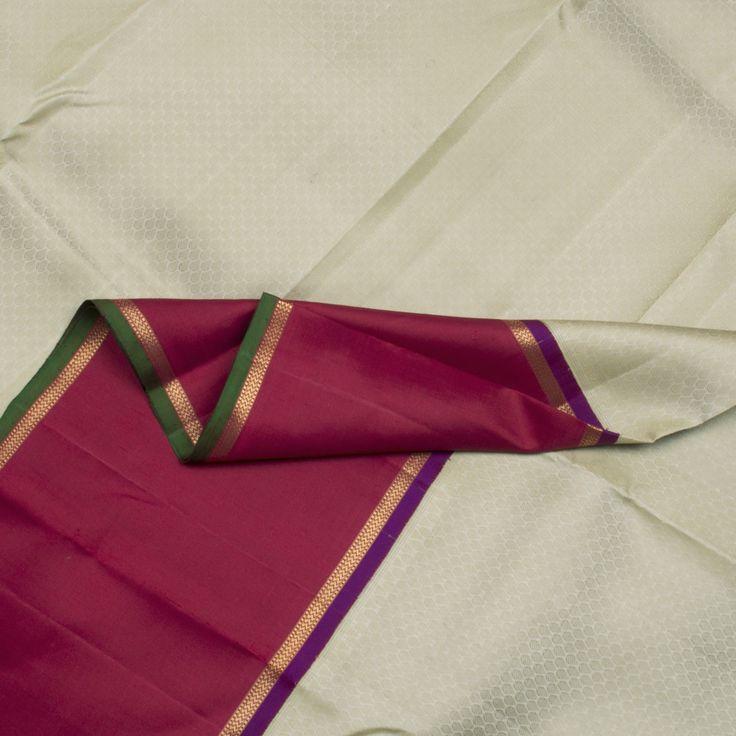 Kanakavalli Handwoven Kanjivaram Korvai Sari 070100308 - Sari / Kanjivarams / Korvai - Parisera