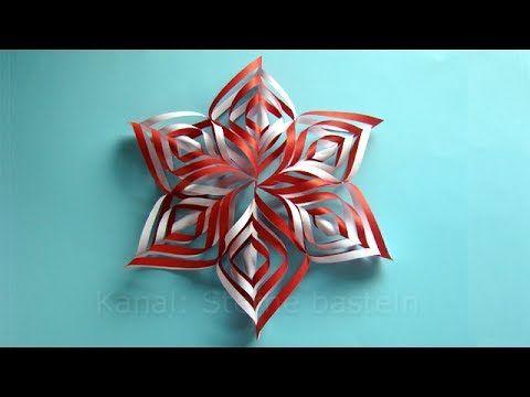 Weihnachtsbasteln: Sterne basteln mit Papier für Weihnachten - Weihnachtsdeko selber machen - YouTube