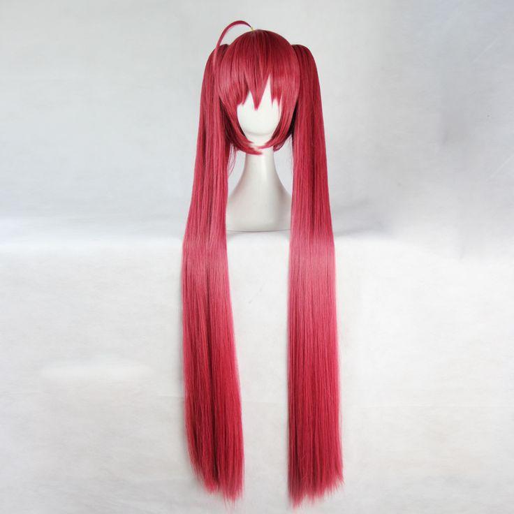 Парики дата эфире Itsuka Kotori женщин темно-красные 35 см / 100 см длинное в японском стиле аниме косплей Cap сетку для волос