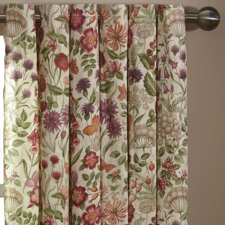 Field Flowers Ready Made Lined Eyelet Curtains