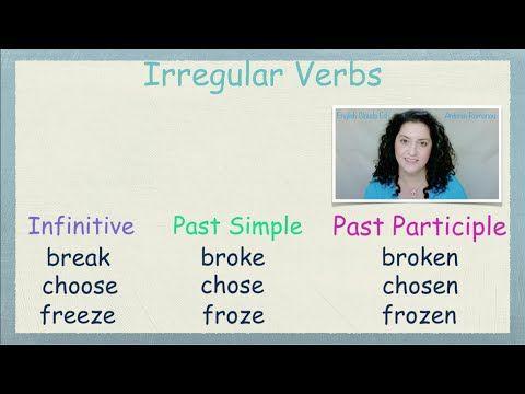 Δωρεάν Μαθήματα Αγγλικών- Ανώμαλα Ρήματα 2-Free English Lessons in Greek-Irregular Verbs in Groups 2 - YouTube