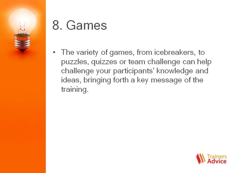 Games for training
