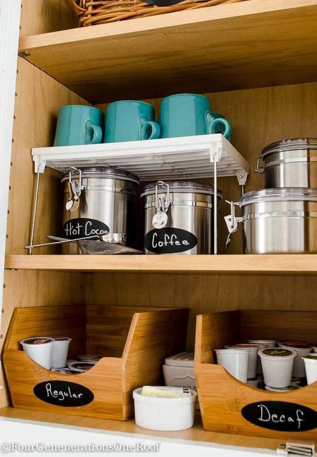 Free Standing Mug Shelf | 23 Awesome Ways To Organize Your Coffee Mug  Storage
