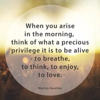 When you arise in the morning…