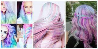 Cabello Arco iris pastel #hairstyle #women #fashion #moda #mujeres