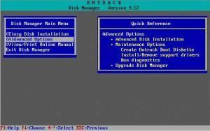 ontrack disk manager