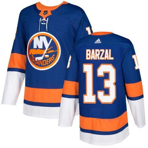 Men's Adidas New York Islanders #13 Mathew Barzal Royal Blue Home Authentic  Stitched NHL Jersey