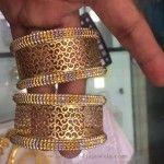 50 Grams Gold Designer Bangle