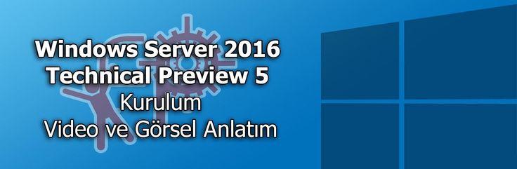 #Adım Adım #Windows #Server #2016 #Technical #Preview 5 nasıl yapılır, #video  anlatımımıza hoşgeldiniz.  Bu videomuzda, yeni Windows Server 2016 Technical Preview 5 kurulumunun nasıl yapıldığını inceleyeceğiz.Bu anlatımımızda, Biz kurulumumuzu #VMWare #Workstation üstünde yapacağız.   #Görsel ve #metin anlatımını gerçekleştirdiğimiz #blog yazımıza. aşağıdaki linkten ulaşabilirsiniz.  http://www.fpajans.com/windows-server-2016-technical-preview-5-kurulum-video-ve-gorsel-anlatim.htm